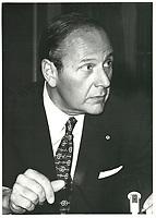 Pierre Cote, President, Conseil du Patronat du Quebec, a la tribune de la Chambre de commerce de Montreal, le mardi 7 novembre 1978.<br /> <br /> PHOTO : JJ Raudsepp  - Agence Quebec presse