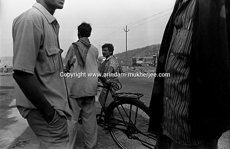 Coal miners after their shift of work. Jharkhand, India. Arindam Mukherjee