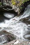 Eas Fors Waterfall. Long exposure, motion blur, north west coast, Isle of Mull, Scotland. June