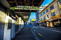 Vivian Street, Wellington CBD, at 8am during Level 4 lockdown for the COVID-19 pandemic in Wellington, New Zealand on Wednesday, 25 August 2021.