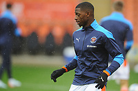 Blackpool's Sullay Kaikai during the pre-match warm-up <br /> <br /> Photographer Kevin Barnes/CameraSport<br /> <br /> The EFL Sky Bet League One - Blackpool v Milton Keynes Dons - Saturday 24 October 2020 - Bloomfield Road - Blackpool<br /> <br /> World Copyright © 2020 CameraSport. All rights reserved. 43 Linden Ave. Countesthorpe. Leicester. England. LE8 5PG - Tel: +44 (0) 116 277 4147 - admin@camerasport.com - www.camerasport.com