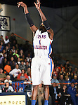 Texas-Arlington Mavericks forward Bo Ingram (1) takes a shot in the game between the UTA Mavericks and the Hardin-Simmons Cowboys held at the University of Texas in Arlington's Texas Hall in Arlington, Texas. UTA defeats Hardin-Simmons 88 to 71.