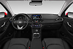 Stock photo of straight dashboard view of a 2018 Hyundai i30 Twist 5 Door Hatchback