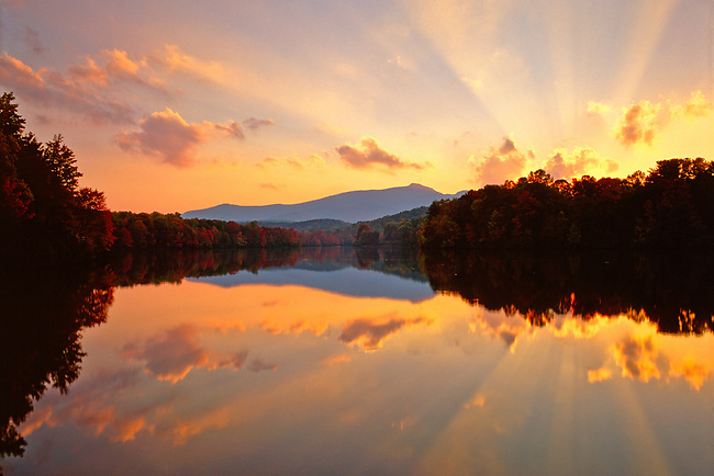 Autumn sunset reflection, Price Lake