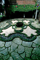 A living rug in the garden at Naumkeag, designed by Fletcher Steele for Mabel Choat. Stockbridge, Massachusetts, next to house