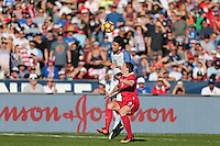 San Diego, CA - Sunday January 29, 2017: Steve Birnbaum, Marko Mrkic during an international friendly between the men's national teams of the United States (USA) and Serbia (SRB) at Qualcomm Stadium.