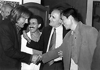 1995 File PhotoMontreal (Qc) CANADA<br /> , Gerard Depardieu (R),Serge Losique (M), Zhang Ymou (R)<br /> Photo (c)  Pierre Roussel / Images Distribution