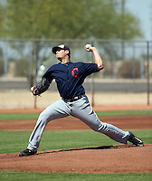 Brady Aiken, the Cleveland Indians 2015 first round draft pick, makes his first professional appearance after undergoing Tommy John surgery in March 2015 for the Indians extended spring training team in a game against the White Sox at the Indians training facility on May 28, 2016 in Goodyear, Arizona. Aiken pitched one inning (Bill Mitchell)
