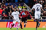 Marouane Fellaini of Manchester United (R) in action against Michy Batshuayi of Valencia CF (L) during the UEFA Champions League 2018-19 match between Valencia CF and Manchester United at Estadio de Mestalla on December 12 2018 in Valencia, Spain. Photo by Maria Jose Segovia Carmona / Power Sport Images