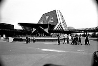 MONTREAL, CANADA - File Photo - People visit  TERRE DES HOMMES : site of Expo 67, in the seventies.<br /> <br /> <br /> <br /> File Photo : Agence Quebec Presse - Alain Renaud