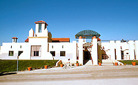 Michael Graves: San Juan Capistrano Public Library. 1984. Elevation.  Photo '86.