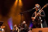 22/05/2006 Barbican Hall, London, England. Brazilian legends Mutantes play a reunion gig after 33 years. Original members on stage: Sergio Dias, Arnaldo Baptista, Ronaldo 'Dinho' Leme, with singer Zelia Duncan.