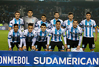 AVELLANEDA - ARGENTINA - 29 - 06 - 2017: Los jugadores de Racing Club, posan para una foto, durante partido entre Racing Club de Argentina y Deportivo Independiente Medellin de Colombia, por la segunda fase llave 1 por la Copa Conmebol Sudamericana 2017 en el estadio Juan Domingo Peron, de la ciudad de Avellaneda. / The Players of Racing Club, pose for a photo, during a match between Racing Club of Argentina and Deportivo Independiente Medellin of Colombia of the second phase, key 1 for the Copa Conmebol Sudamericana 2017, at the Juan Domingo Peron Stadium in Avellaneda city. Photo: VizzorImage / Javier Garcia Martino / Photogamma / Cont.