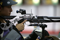 BARRANQUILLA - COLOMBIA, 22-07-2018:Competidora A Osorio ,Modalidad  Rifle 10m Aire Mujeres por equipos  .Juegos Centroamericanos y del Caribe Barranquilla 2018. /Competitor A Osorio, Modality Rifle 10m Air Women by teamsof the Central American and Caribbean Sports Games Barranquilla 2018. Photo: VizzorImage /  Contribuidor
