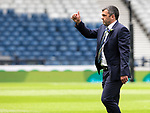 St Johnstone v Hibs…22.05.21  Scottish Cup Final Hampden Park<br />Thumbs up from manager Callum Davidson<br />Picture by Graeme Hart.<br />Copyright Perthshire Picture Agency<br />Tel: 01738 623350  Mobile: 07990 594431