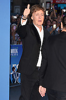 """Sir Paul McCartney<br /> at the Special Screening of The Beatles Eight Days A Week: The Touring Years"""" at the Odeon Leicester Square, London.<br /> <br /> <br /> ©Ash Knotek  D3154  15/09/2016"""
