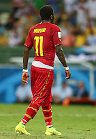 Sulley Muntari of Ghana wears his shorts low revealing his underwear