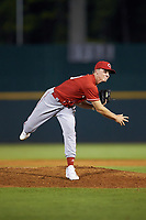 Will Kroger (30) of Bardstown HS in Bardstown, KY playing for the Cincinnati Reds scout team during the East Coast Pro Showcase at the Hoover Met Complex on August 2, 2020 in Hoover, AL. (Brian Westerholt/Four Seam Images)