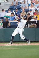 July 4, 2009: Everett AquaSox first baseman Gerardo Avila at-bat during a Northwest League game against the Yakima Bears at Everett Memorial Stadium in Everett, Washington.