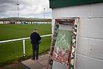 Holker Old Boys 2 Crook Town 1, 10/10/2020. Rakesmoor, FA Vase second round qualifying. A solitary spectator watching the first-half action as Holker Old Boys take on Crook Town in an FA Vase second round qualifying tie at Rakesmoor, Barrow-in-Furness. The home club was established in 1936 as Holker Central Old Boys and was initially an under-16 team for former pupils of the Holker Central Secondary School. Holker from the North West Counties League beat their Northern League opponents 2-1, watched by a crowd of 147 spectators. Photo by Colin McPherson.