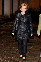 Pictured: Penelope John leaves Swansea Crown Court. Tuesday 09 January 2018<br /> Re: A mother and son will go on trial at Swansea crown court charged with murdering 84 year old Betty Guy.<br /> Mrs Guy died on November 7, 2011, and her body was cremated soon afterwards.<br /> Her daughter, Penelope John, aged 50, and her grandson, Barry Rogers, 32, have previously denied her murder and an alternative charge of manslaughter.<br /> The court has previously heard that the prosecution case involved 75 hours of recorded statements made by the defendants.