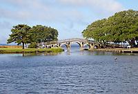 Currituck Heritage Park, Outer Banks, North Carolina.  Historic Footbridge.