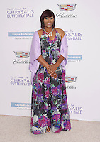 BRENTWOOD, CA - JUNE 11: Kellie Williams arrives at the 15th Annual Chrysalis Butterfly Ball at a private residence on June 11, 2016 in Brentwood, California.