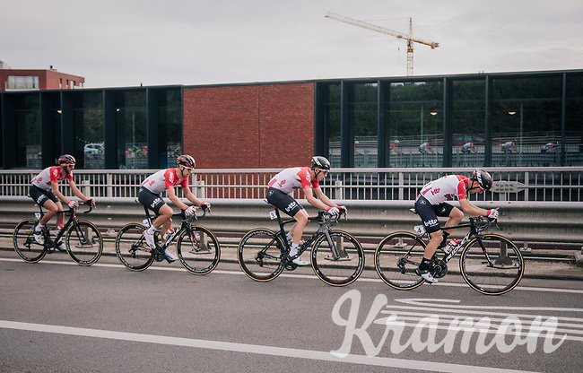Team Lotto-Soudal lining up at the front<br /> <br /> 52nd GP Jef Scherens - Rondom Leuven 2018 (1.HC)<br /> 1 Day Race: Leuven to Leuven (186km/BEL)