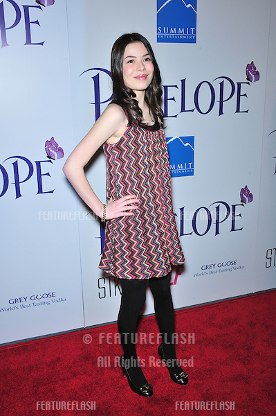 """Miranda Cosgrove at the Los Angeles premiere of """"Penelope"""" at the Directors Guild Theatre, West Hollywood..February 20, 2008  Los Angeles, CA.Picture: Paul Smith / Featureflash"""