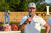 May 2nd 2021; The Woodlands, Texas, USA;  Mike Weir speaks to the crowd after winning the 2021 Insperity Invitational at The Woodlands Country Club on May 2, 2021 in The Woodlands, Texas.