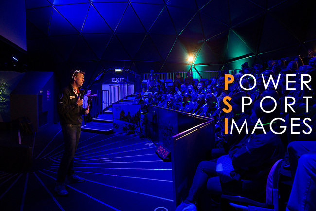 Volunteers attend an conference with Martin Strömberg at the Dome in the Volvo Ocean Race Village on June 25, 2015 in Gothenburg, Sweden. Photo by Victor Fraile / Power Sport Images