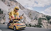 the caravan up the Col d'Izoard (HC/2360m/14.1km/7.3%)<br /> <br /> 104th Tour de France 2017<br /> Stage 18 - Briancon › Izoard (178km)
