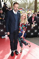 Jamie Theakston and Emma Bunton<br /> arrives for the T.R.I.C. Awards 2017 at the Grosvenor House Hotel, Mayfair, London.<br /> <br /> <br /> ©Ash Knotek  D3240  14/03/2017