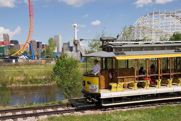 Denver trolley, Denver, Colorado, USA .  John offers private photo tours in Denver, Boulder and throughout Colorado. Year-round.