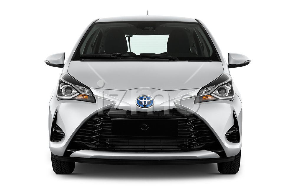 Car photography straight front view of a 2017 Toyota Yaris Comfort 5 Door Hatchback