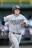 Kavin Keyes #3 of the Oregon State Beavers runs the bases against the UCLA Bruins at Jackie Robinson Stadium in Los Angeles,California on April 29, 2011. Photo by Larry Goren/Four Seam Images