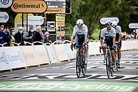 After being in a serious crash with 7km to go, 4-time Tour winner Chris Froome (GBR/Israel Start-Up Nation) rolls over the finish line 14 minutes down the stage winner<br /> <br /> Stage 1 from Brest to Landerneau (198km)<br /> 108th Tour de France 2021 (2.UWT)<br /> <br /> ©kramon