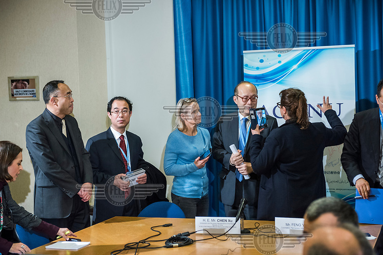 A press briefing by the Chinese Ambassador to the UN on the Coronavirus situation. Given at the Palais des Nations to members of ACANU, the Association of Correspondents to the UN, following on from the confirmation of a global health emergency, and a travel ban announced by the US. <br /> ''I hope calm responsible and objective attitude could be conducted in this outbreak. There is no need for unnecessary panic or excessive measures. Dear friends, the situation is very serious, we have to ackowledge the seriousness of the matter.…. we have the full confidence in defeating the epidemic ..... freedom of press is not an issue in this case.''