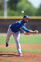 Texas Rangers pitcher Ryan Ledbetter (45) during an Instructional League game against the San Diego Padres on October 3, 2016 at the Peoria Sports Complex in Peoria, Arizona.  (Mike Janes/Four Seam Images)