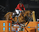 8 October 2010: Philippe Le Jeune and Vigo D'Arsouilles compete during the Show Jumping Individual Championship Qualifiers in the World Equestrian Games in Lexington, Kentucky
