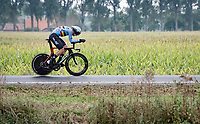 Florian Vermeersch (BEL/Lotto Soudal) speeding to 3rd place<br /> <br /> World Championships U23 Men - ITT <br /> Time Trial from Knokke-Heist to Bruges (30.3km)<br /> <br /> UCI Road World Championships - Flanders Belgium 2021<br /> <br /> ©kramon