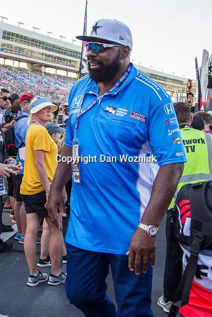 "Former Dallas Cowboy's football star. Ed ""too tall"" Jones in action before the DXC Technology 600 race at Texas Motor Speedway in Fort Worth,Texas."