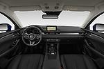 Stock photo of straight dashboard view of 2019 Mazda Mazda6 Skycrusie 5 Door Wagon Dashboard