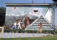 Los Angeles: Mural on Estrada Court, Boyle Heights, 1975. Photo '85.