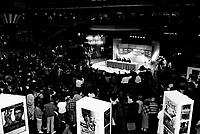 Serge Losique<br />  at Depardieu en conference de presse au FFM 1989