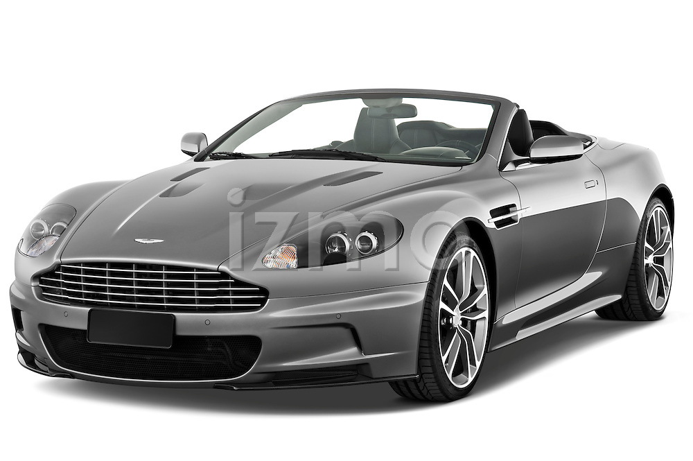 Front three quarter view of a 2007 - 2012 Aston Martin DBS Volante Convertible.