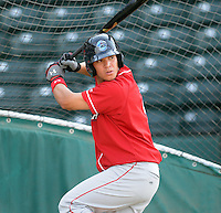 Catcher Sebastian Valle (9) of the Lakewood BlueClaws, Class A affiliate of the Philadelphia Phillies, in a game against the Greenville Drive on May 13, 2010, at Fluor Field at the West End in Greenville, S.C. Photo by: Tom Priddy/Four Seam Images