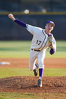 High Point Panthers relief pitcher Sean Barry (17) in action against the Bowling Green Falcons at Willard Stadium on March 9, 2014 in High Point, North Carolina.  The Falcons defeated the Panthers 7-4.  (Brian Westerholt/Four Seam Images)