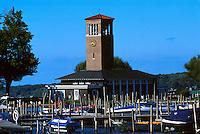 The historic bell tower on Chautauqua Lake, 07-3700. Chautauqua New York United States Chautauqua Institute.