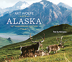 """Art Wolfe's photographic tour of Alaska has become the standard volume of its class. These 150 images take the reader from the lush Southeast to the singular Denali Mountain and across the northern tundra. The tenth anniversary edition of Alaska features gorgeous landscape-format photography, with sections including """"Mountain,"""" """"River and Lake,"""" """"Tundra,"""" """"Sea and Coast,"""" """"Forest,"""" and """"Island."""" With text by Nick Jans."""